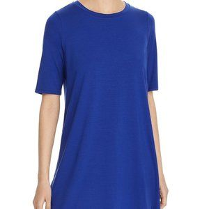 Eileen Fisher Petites Royal Blue Tunic Top PL